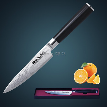 Huiwill 67 layers Japanese VG10 Damascus steel kitchen Utility knife Universal knife Vegetable kitchen knife Free Shipping