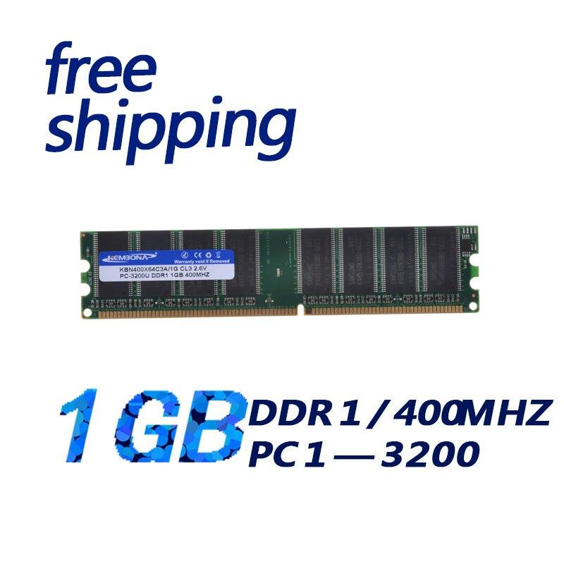 KEMBONA free shipping PC DDR1 1gb PC3200 400MHz DIMM 184PIN DDR1 400 Mhz desktop memoria ram цена