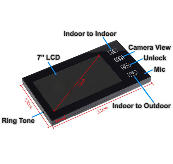 Yobang Security Freeship 7 inch Video Intercom Night Vision Doorphone Rainproof touch KeypadHome Doorbell Video Door Phone