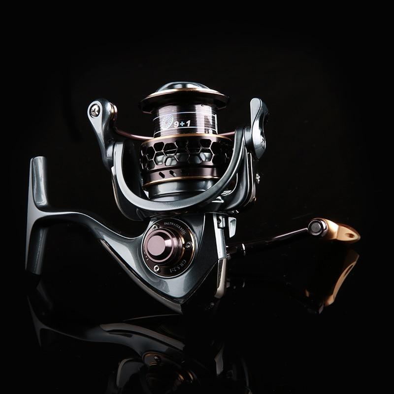ФОТО Trulinoya Moulinet Jaguar 3000 Spinning Reel BB 9+1 Axis Ratio 5.2:1 with Double Ultralight Spool  Rollen de pesca