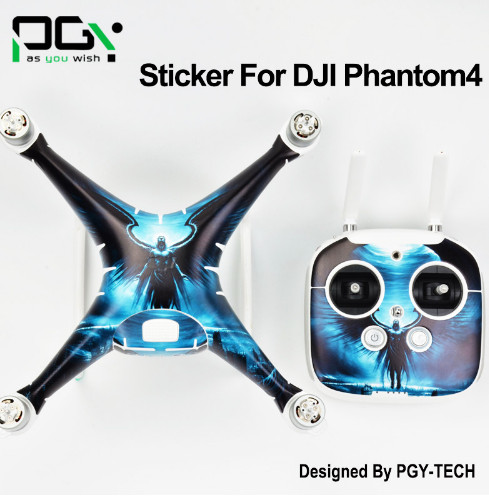 PGY 3M PVC Sticker decal skin for DJI Phantom 4 phantom4 Drone parts Waterproof Quadcopter Professional accessories