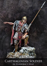 DIY TOYS Resin Kits 1 24 75mm carthaginian soldier in hannibal army 75mm  Unpainted Kit