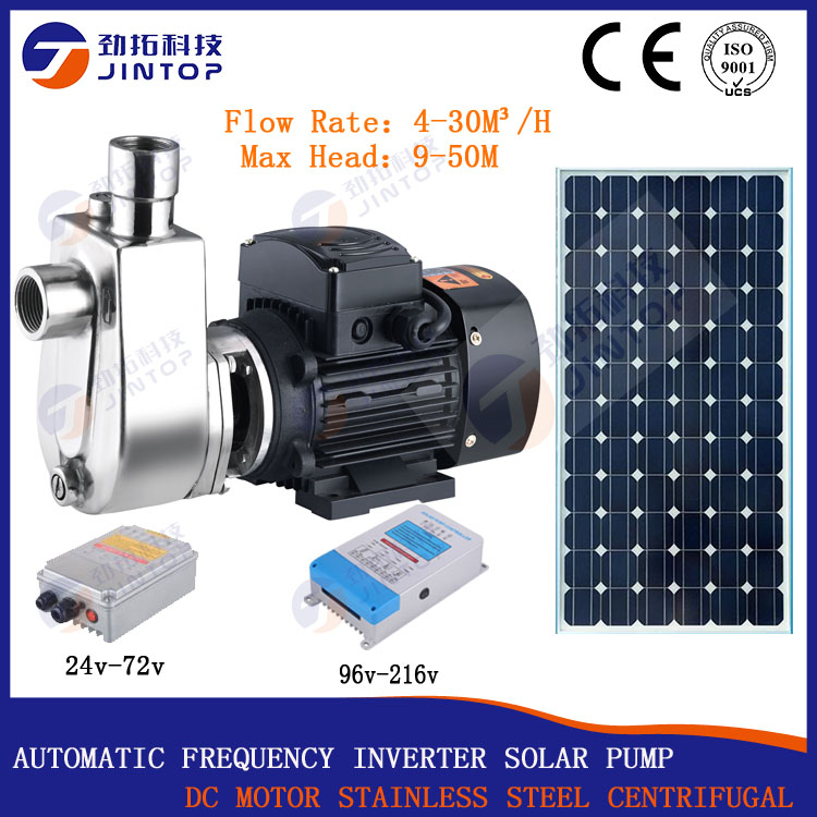 (MODEL JTZW20-40S-2200) JINTOP SOLAR PUMP SELF PRIME sun power water pump in agriculture water pump use solar panel water pump mini screw pump water pump solar made in china 2017 new solae water pump