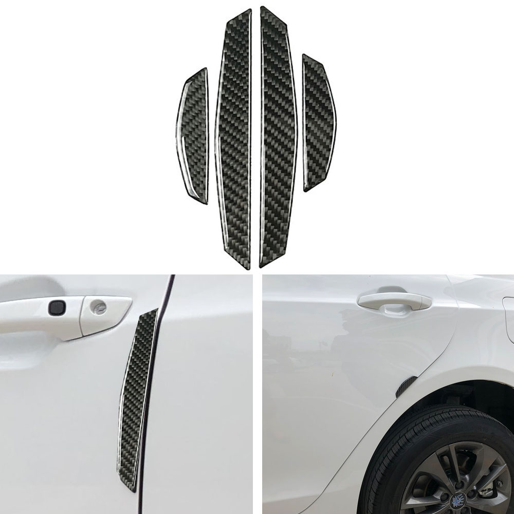Carbon Fiber Car Side Door Edge Bumper Protection Trims Sticker Anti-rub For BMW e46 e39 e60 e90 e36 f30 f10 X1 X3 X4 X5 X6 M3 image