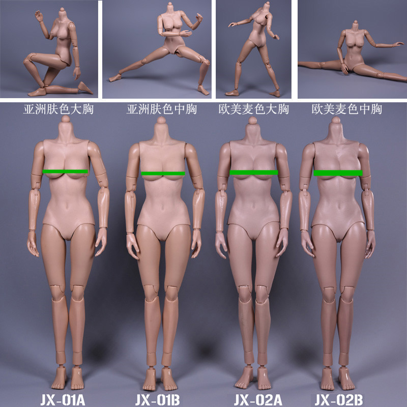 JX Toys 1/6 Scale Female figure Body Similar to For Hot Toys Free Shipping for 12 Action Figure doll Toys sexy Female model male female movable body joint action figure toys artist art painting anime model doll mannequin art sketch draw human body doll