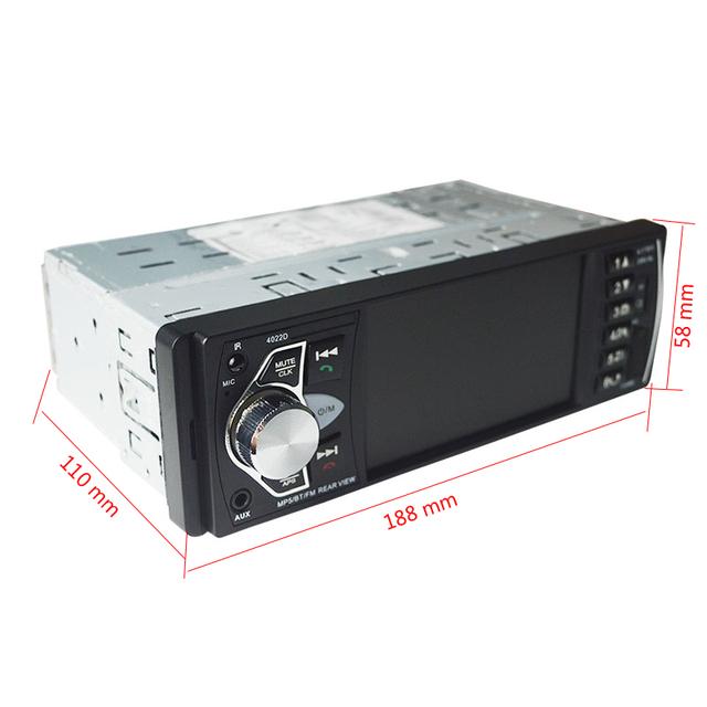 Car Bluetooth Radio with Remote Control