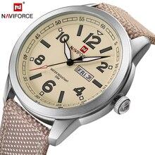NAVIFORCE Marca De Lujo Para Hombre de Cuarzo Relojes de Moda de Nylon Ocasional Del Deporte Reloj Montre Femme Reloj Hombre Reloj Relogio masculino