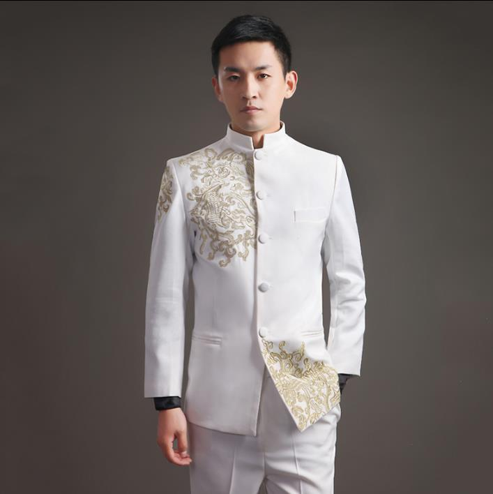 Blazer men formal dress latest coat pant designs embroidery stand ...