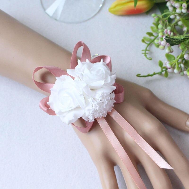 Wrist Flower Bridesmaid Hand Flowers wedding corsage  (9)