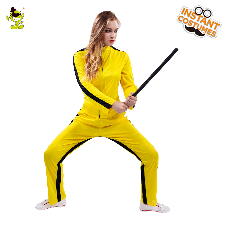 Woman Yellow Kill Bill Costumes Halloween Party Fearful Killer The Bride Cosplay Fancy Outfits For Adult Female