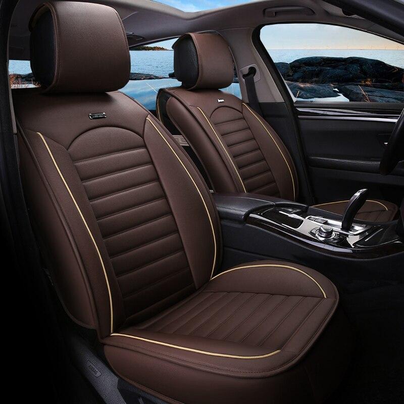 Housse de siège Auto en cuir synthétique polyuréthane universelle pour Lifan Solano X50 Cadillac Escalade Toyota Vitz Mini Changan Cs35 accessoires Auto