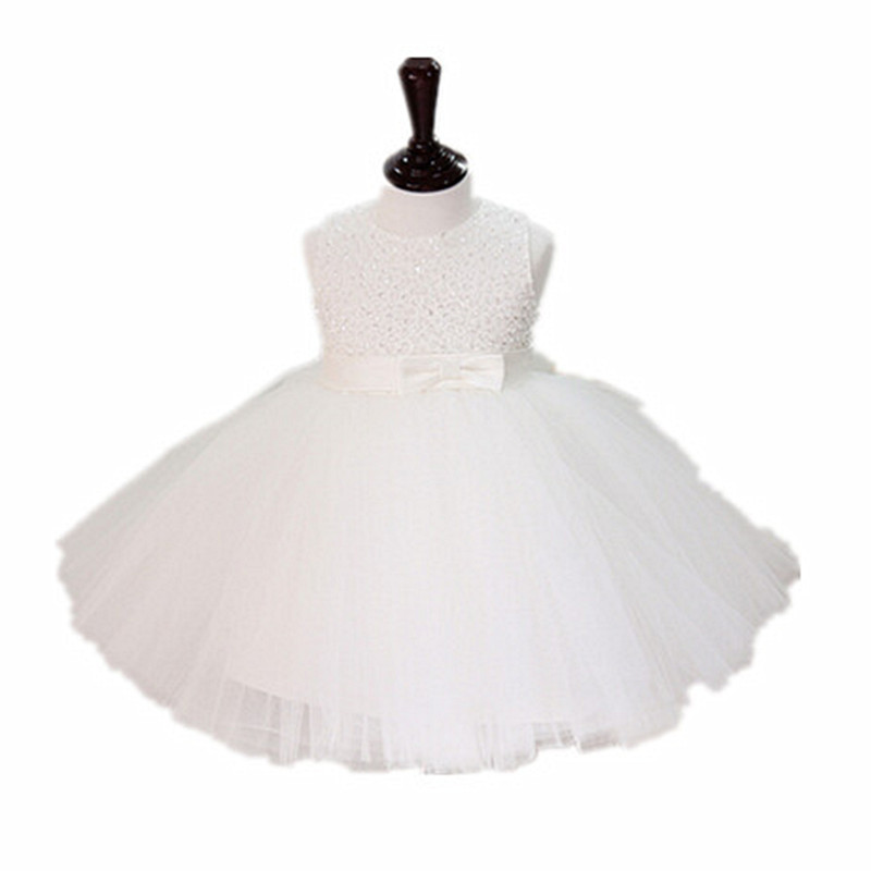 BBWOWLIN Ivory Baby Girls Thanksgiving Christmas Dress for 1 - 6 Years Baby Girl Clothes Fancy Attire for Holiday Party 8074