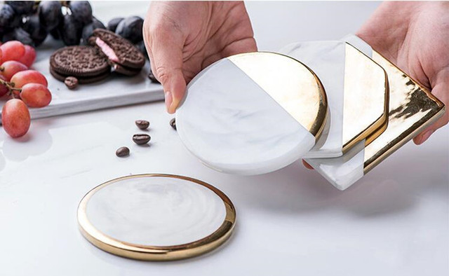 HTB1RPoZkIyYBuNkSnfoq6AWgVXa4.jpg 640x640 - tabletop-and-bar, drinkware - Gold Marble Ceramic Coaster