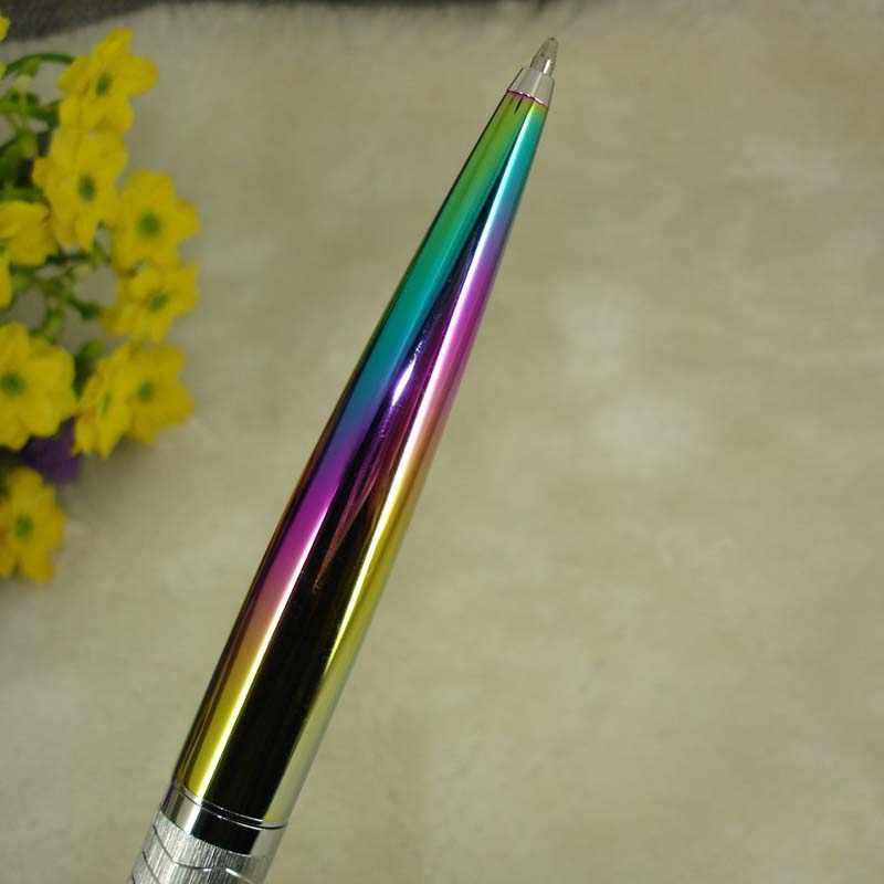 2018 новый дизайн мульти-цветная шариковая ручка 40 г металлический тяжелый модная шариковая ручка эксклюзивные подарки для мужчин Офис Написание Instru для мужчин ts