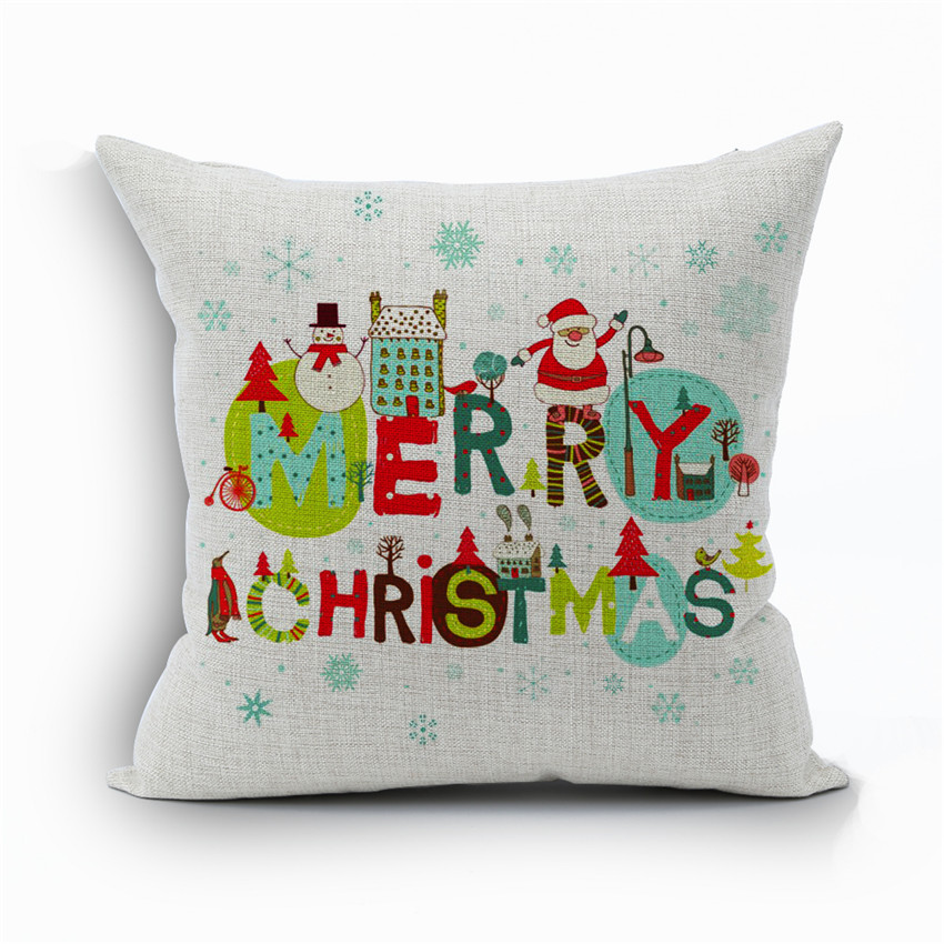 christmas pillows decorative decoration print tree covers owl on pillow linen slipcovers red cushion amazon cotton cover outdoor home car throw holiday