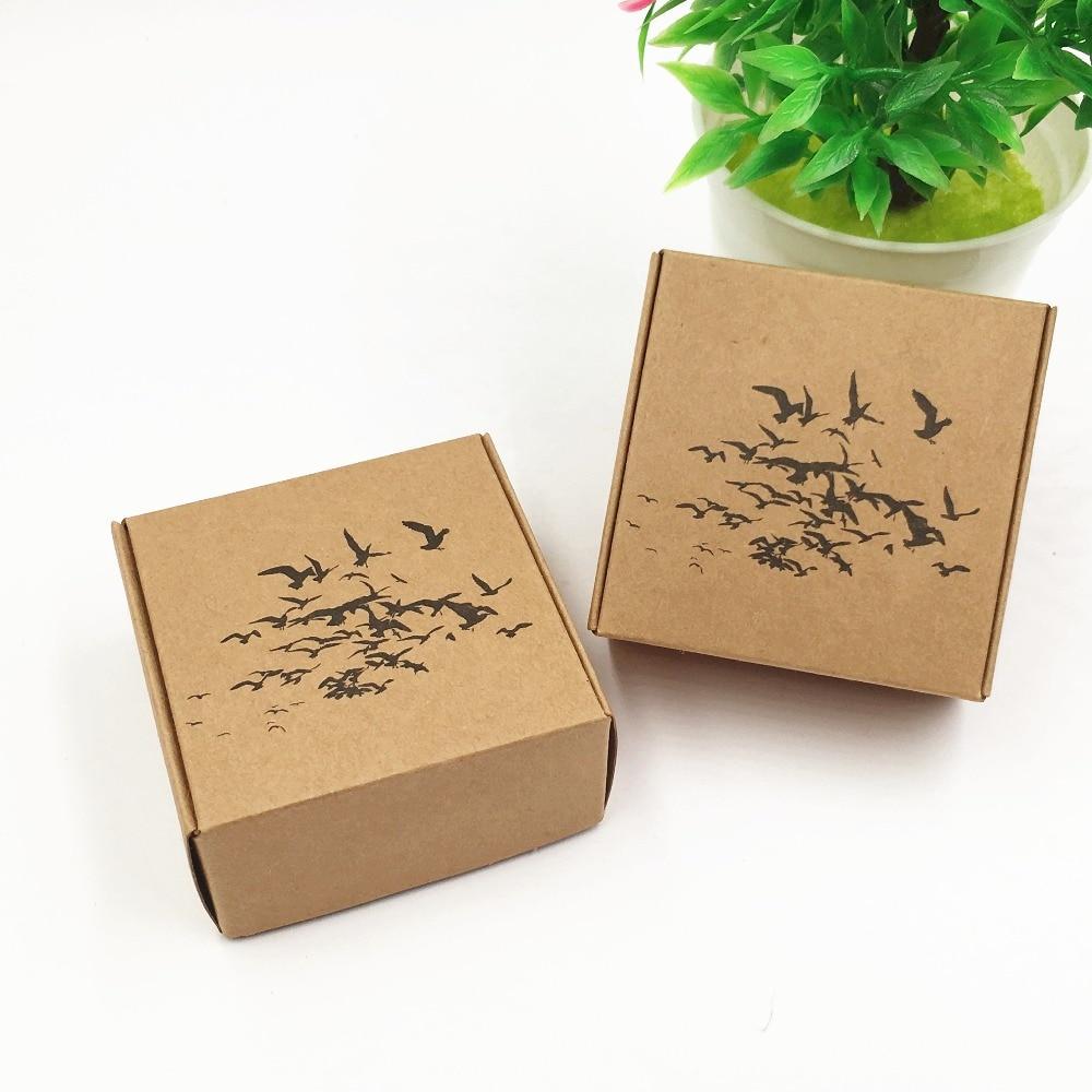 50pcs/lot Kraft Paper Box Handmade DIY Soap Business Card ...