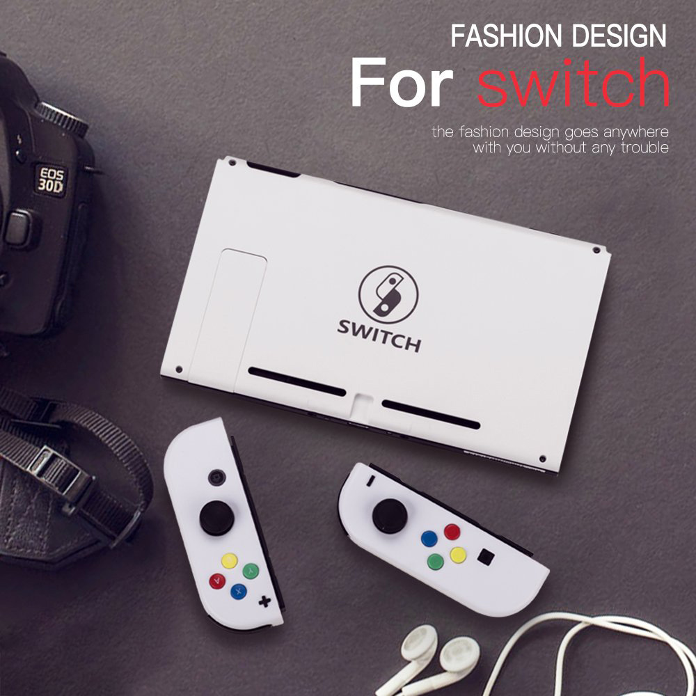 1 Set For Nintendos Switch NS Left Right Joy-con L R Gamepad Game Controller Joystick Replacement Custom Shell Joycon With Strap