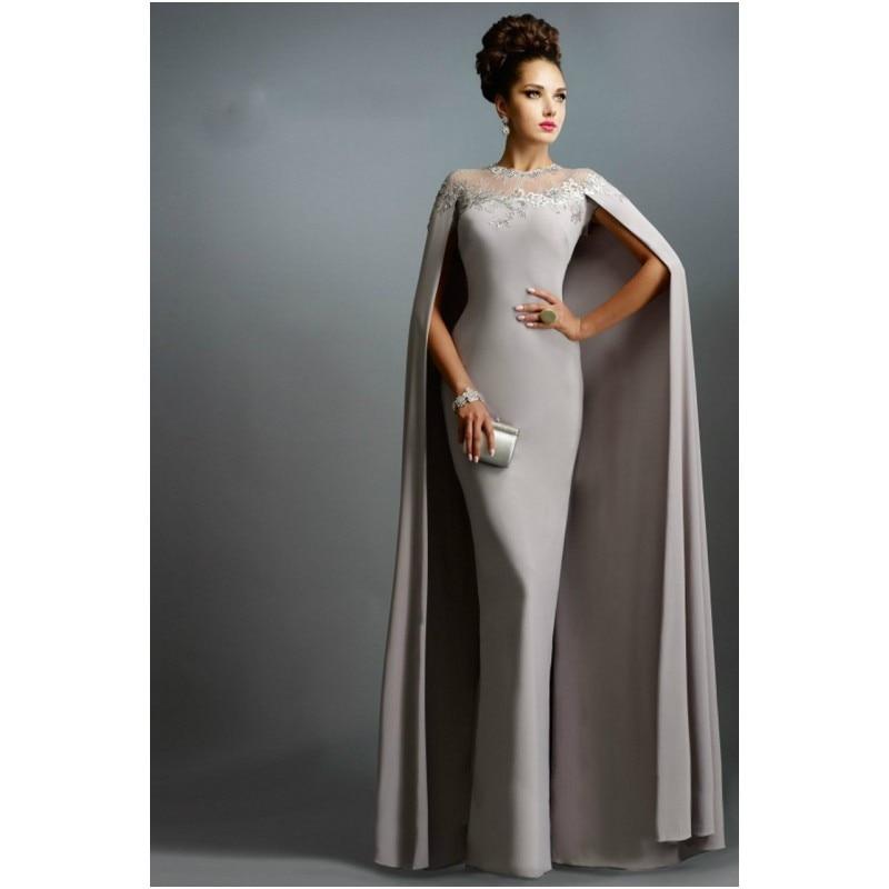 aea9bda146 Nouvelle tendance 2016 arabe robes de soirée avec Wrap gris sirène de  soirée robes longues col haut Abaya à dubaï dans Robes De Soirée de  Mariages et ...