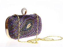 Best Selling in China FREE SHIPPING Dazzling Glitter Sparkling Bling Beading Evening Party purse Bag Handbag Women Clutch wallet