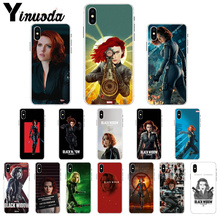 Yinuoda Marvel hero black widow Luxury High-end Protector Case for Apple iPhone 7 6 6S Plus X XS MAX 8 5 5S SE XR Mobile Cases