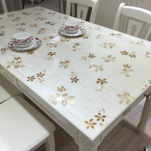 Waterproof PVC soft glass tablecloth oil-proof  no-clean table mat Anti-hot non-slip table cover could be customize europe luxury party tablecloth non slip waterproof table cloth oil proof pvc soft glass plastic table cover coffee table mat