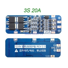 3S 20A Li-ion Lithium Battery PCB Protection Board BMS  Could Drive Drill ( Standard Version )