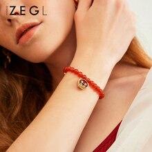 цена на ZEGL red agate bracelets piglet bracelet red bracelet bracelet bracelet charm bracelet