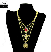 Popular mens ruby pendant buy cheap mens ruby pendant lots from mens iced out crystal jewelry necklace set with angel jesus pendant chains hip hop link rope chain hot sale style neckalce aloadofball Gallery