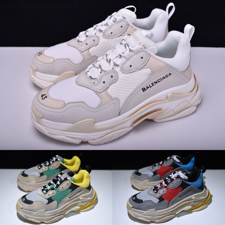 3ad7892840f22 Detail Feedback Questions about NEW BALENCIAGAS TRIPLE S TRAINERS RARE  EDITION FOR MEN WOMEN DAD SHOES SNEAKERS on Aliexpress.com