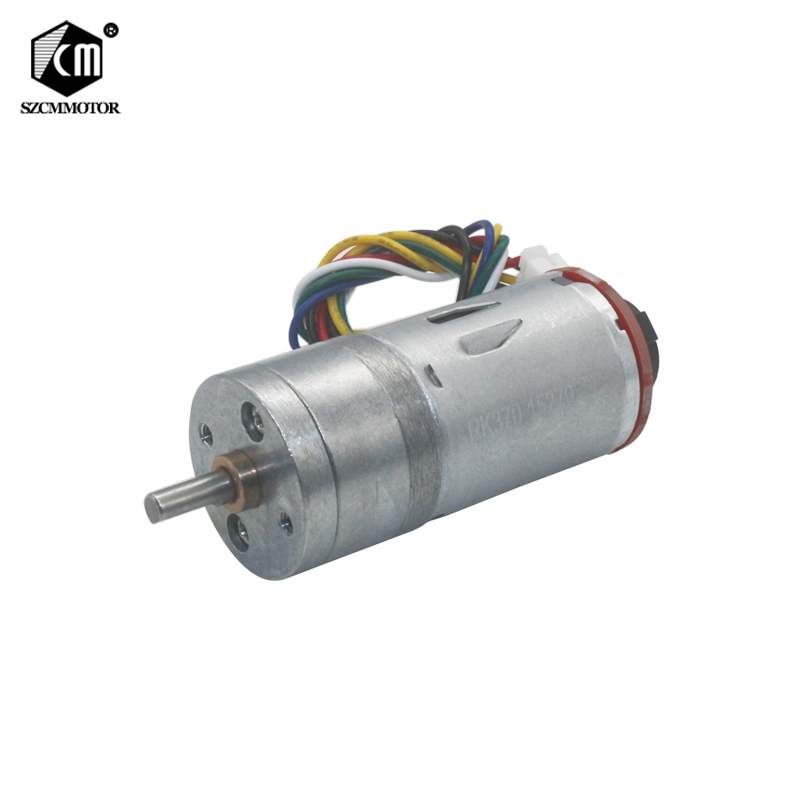 12RPM-1360RPM Large Torque Speed Reduction Gear Motor with Encoder 25mm Diameter Gearbox Encoder Geared Motor цена