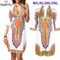 Оптовая Африканские Платья Для Женщин Индийской Печати Плюс Размер Dashiki Одежда Robe Femme Dashiki Ткань Лето Сексуальная Хиппи Boho