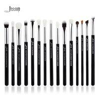 Jessup Brand Black Silver Professional Makeup Brushes Set Make Up Brush Tools Kit Eye Liner Shader
