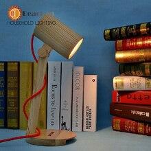 Современная ночной настольная лампа деревянное основание мальчик девочка настольная лампа новизна настольные для гостиной спальня декор Lamparas де Escritorio