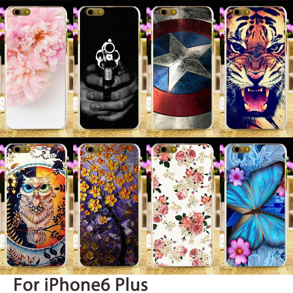 Galleria fotografica TAOYUNXI Soft Mobile Smartphone Cases For Apple iPhone 6 Plus iPhone6 Plus iphone6 Case Flowers Hard Back Cover Skin Bag