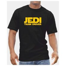 Jedi Train Driver TShirt - Mens Star Wars Starwars Gift Present Midland Mainline Free shipping