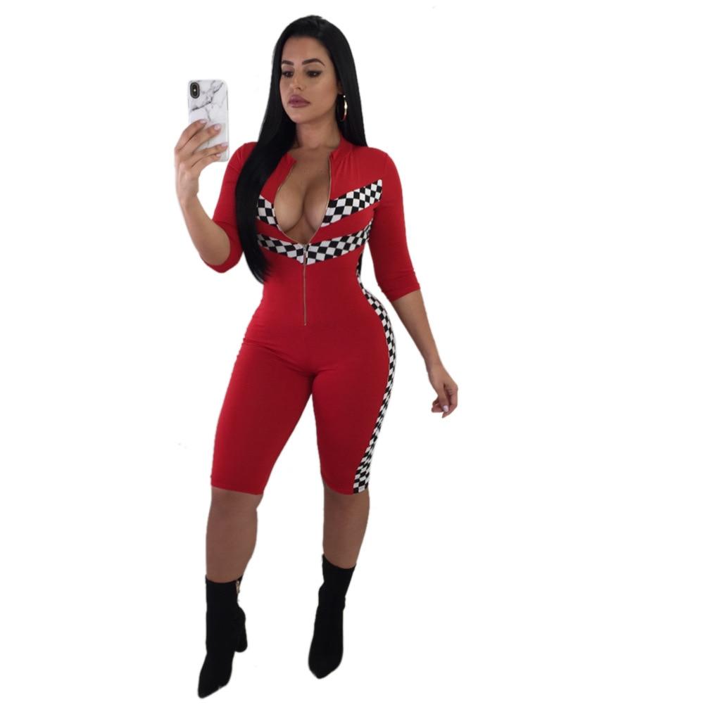 JIZHENGHOUSE Hot Sale Women Sexy Bodysuit Summer Slim Waist Bodycon Rompers Womens Jumpsuit Streetwear Casual Party Playsuits