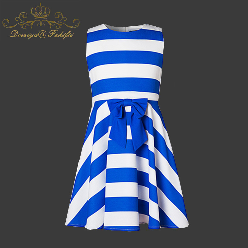 Robe Enfant Kids Dress 2018 Brand Summer Costumes Baby Princess Stripe Dress For Wedding Children Clothing Vetement Enfant Fille