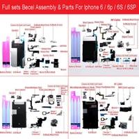 Full Set Bezel Assembly For iPhone 6 6p 6s 6sp Charger usb/LCD Bezel/camera /speaker/Vibration/Screw/Bracket/Buzzer/wifi Parts