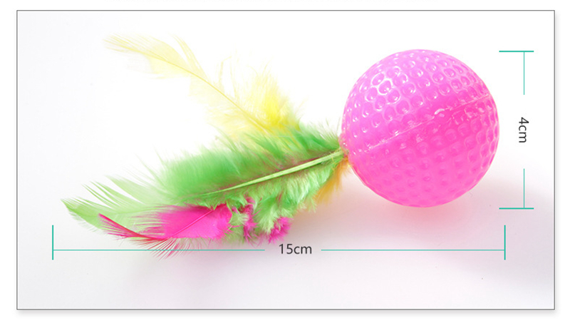 Plastic Golf Ball, Cat Toy Cat Ball Toy, Random Colors with Feather Cat  Toys  - AliExpress