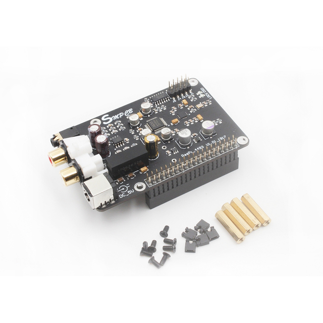 AK4493 DAC Decoder Board Digital Broadcast Network Player For Raspberry Pi 2B 3B 3B+ Decoding To I2S 32BIT 384KHZ DSD128