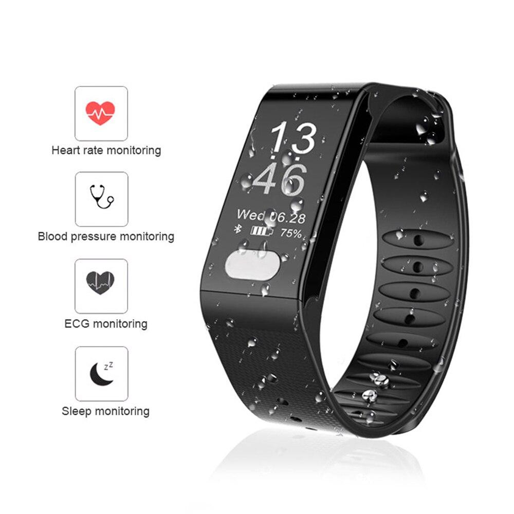 TLWT6 moniteur de fréquence cardiaque montre intelligente moniteur de pression artérielle fonction ECG Bracelet de Fitness Bracelet intelligent pour téléphone Android iOS