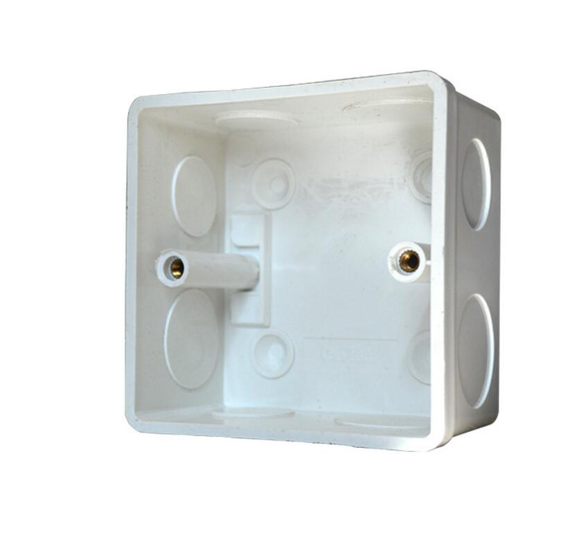 86*86mm Switch Wall Mounting Box For Wall Switch And Plastic Enclosure Socket Back Box Outlet 86mm Case Cassette Universal