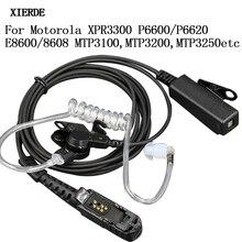 PPT Tai Nghe Loa Cho Motorola Xir P6600 P6620 XPR3300 XPR3500 MTP3250 2 Chiều Tai Nghe Bộ Đàm Không Khí Âm Ống