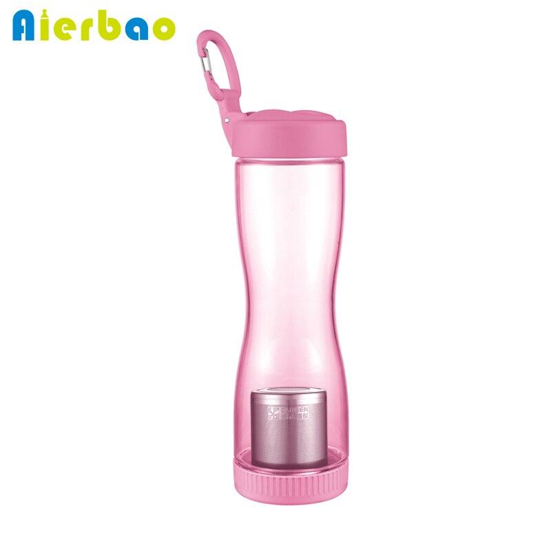 Portable Sports Water Bottle With Filter Strainer 500ml Travel Bottle Leak Proof Tea Infucer Water Bottles BPA Free