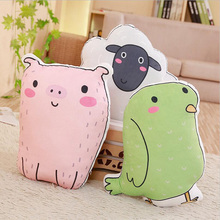Lovely Cartoon Forest Pig Rabbit Cat Dog Sheep Plush Toy Stuffed Animal Doll Pillow Children Gift