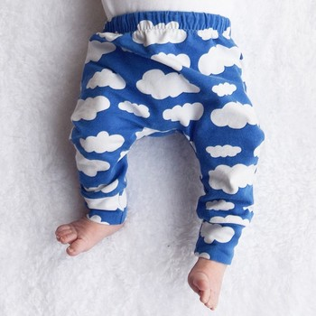 Toddler Baby Boy Girl PP Leggings Sweatpants Cotton Trousers Clothes Clound Printed Harem Pants Trousers Bottom Leggings