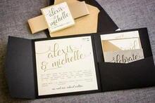 CA0901 Fully Assembled Pocketfold Wedding Invitations