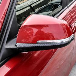 1 para z włókna węglowego lusterko wsteczne wykończenia naklejki do BMW serii 3 F30 w wieku 13 18|Naklejki samochodowe|Samochody i motocykle -
