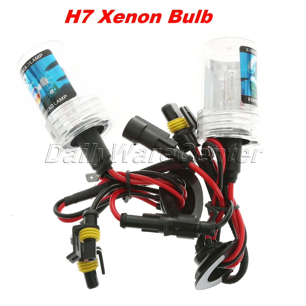 2X 12V 35W H7 Car HID Xenon Bulb Replacement Headlight Lamp Auto Light Source HID Conversion Kit 3000/4300/5000/6000/8000/12000K