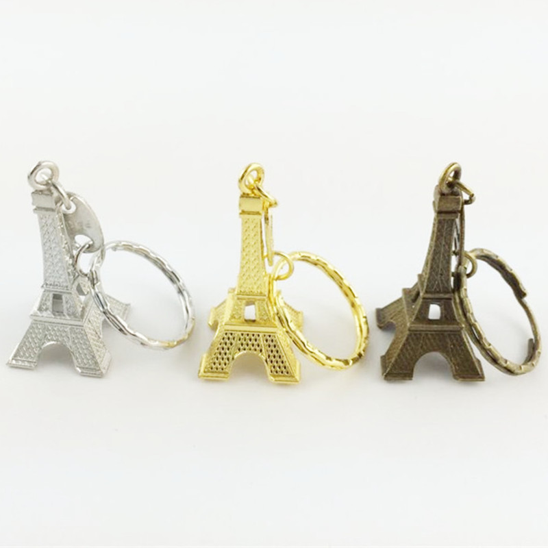 3pcs/lot Retro Mini Torre Eiffel Tower Keychain For Keys Souvenirs Paris Tour Eiffel Key Chains keyring Holder sleutelhanger